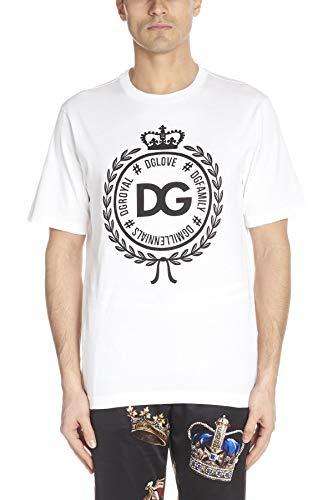 Gabbana Dress Shirt Dolce & Cotton (Dolce e Gabbana Men's G8hv4tfu7eqw0800 White Cotton T-Shirt)