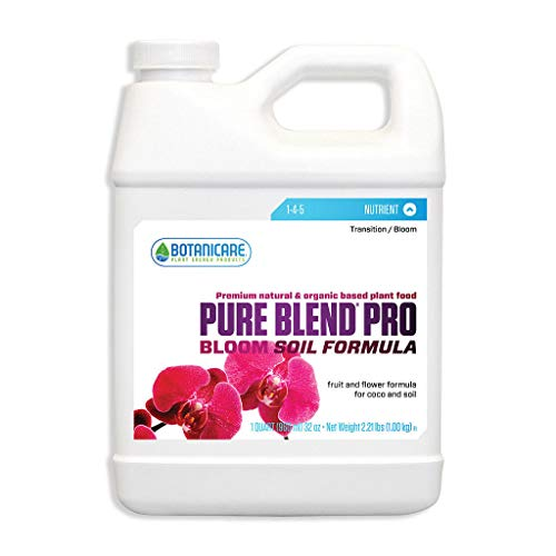 Botanicare Pure Blend Pro Bloom Soil Formula 1 qt Quart Nutrient