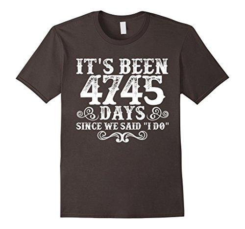 Mens 13th Anniversary Gifts For Couple. Couple T shirt. 3XL Asphalt