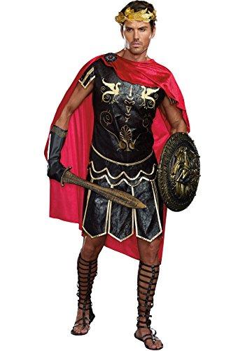 [Dreamgirl Men's Julius Caesar Roman God Costume, Black, Large] (Roman God Costumes)