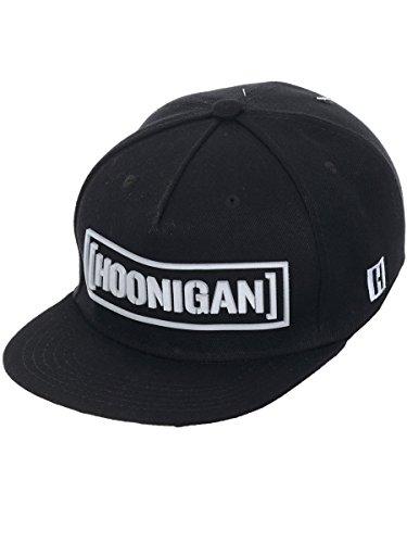 bafcebf09 Hoonigan Men's Ultra Censor Bar Sonic Snapback Hat Black White - Buy ...