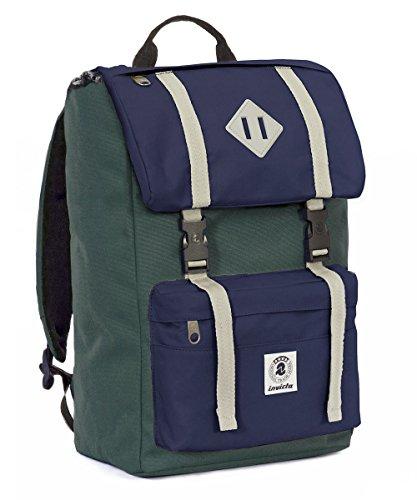 Price comparison product image Backpack INVICTA - SHOT PACK - Green Blue - Padded computer tablet pocket - bag 28 liters