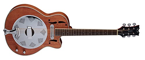 Dean Resonator Cutaway/Electric Natural Mahogany - Guitar Dean Chromes Resonator