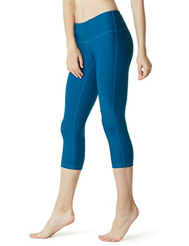 TSLA Yoga Tights Pants Leggings Mid-Waist/High-Waist Tummy Control w Inner-Pocket Series