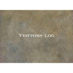 "Visitors Log: Brown Rustic Leather Look | Simplistic sign in register book for office, work, business, hospitality, childcare & more |*paperback* 8.5"" x 6"""