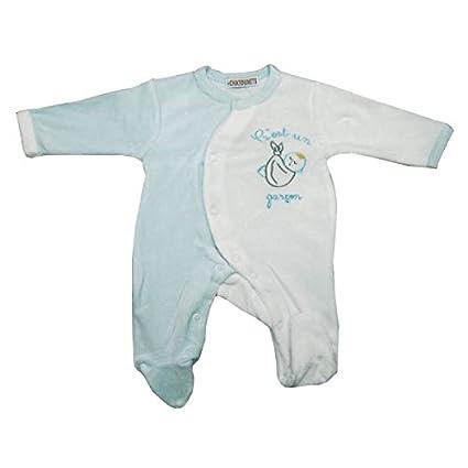 Galatexe-Pijama para bebé prematuro 00 meses, color azul, para niño, color