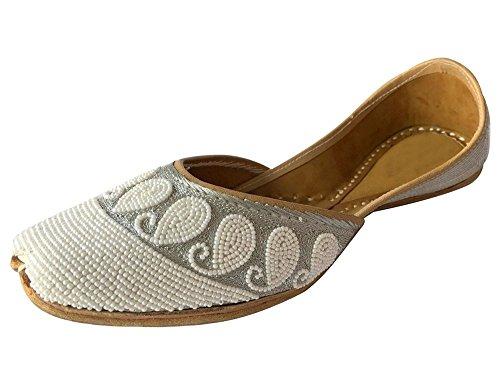 Step n Style étape N Style Punjabi indien Jutti Chaussures plates Flop Khussa Chaussures fait à la main Mojari Jooti