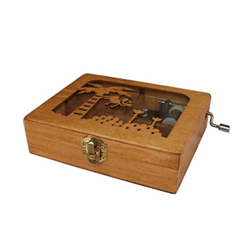 MUSICALL Mini Music Box DIY Wooden Exquisite Animal Mechanical Hand Crank Craft Music Box Movement Gift picture show1 by MUSICALL