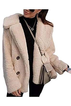 Women Fleece Outwear Thick Wool Fuzzy Fur Teddy Jackets