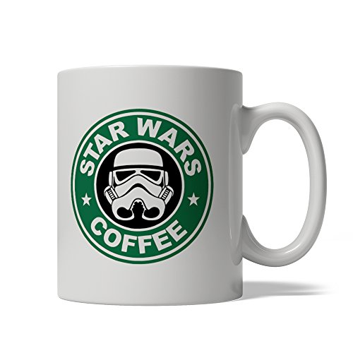 [BijouLand - Star Wars Coffee Darth Vader Logo - Ceramic Coffee Mug 11oz, USA] (Father Son Star Wars Costumes)