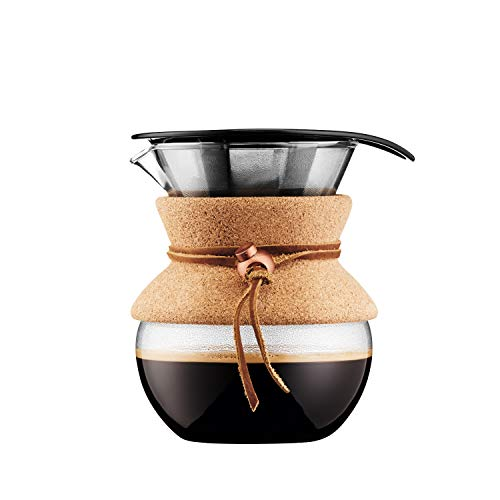 Bodum Pour Over Coffee Maker, 17 Ounce, .5 Liter, Cork Band Bodum 3 Cup Coffee