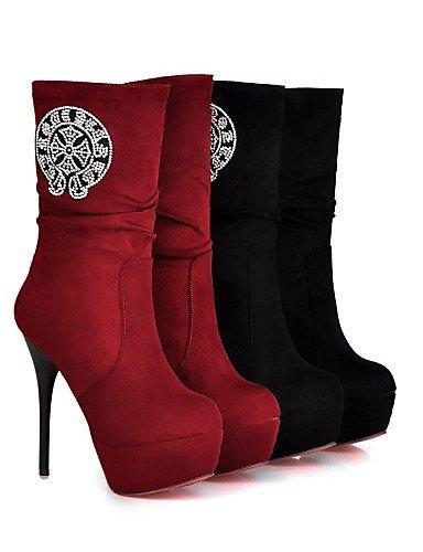 Rojo Vestido red Stiletto Negro eu42 Botas mujer 5 Plataforma XZZ Casual a Oficina Moda cn43 Zapatos red Botas 5 y Trabajo uk8 us10 Semicuero cn42 8 5 la eu42 10 eu41 red us10 uk7 Tacón de 5 us9 5 qIAqnUTw6