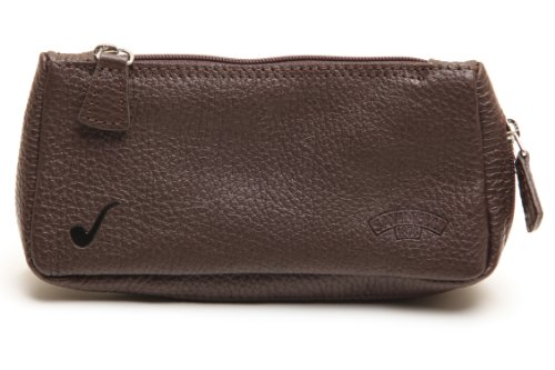 Savinelli Nappa 1 Pipe Tobacco Pouch Case Brown by Savinelli