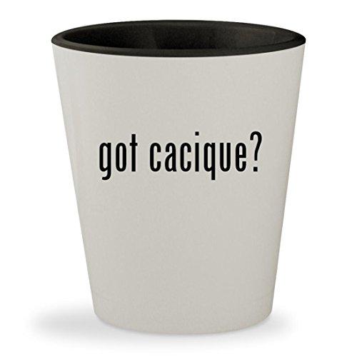 got cacique? - White Outer & Black Inner Ceramic 1.5oz Shot Glass