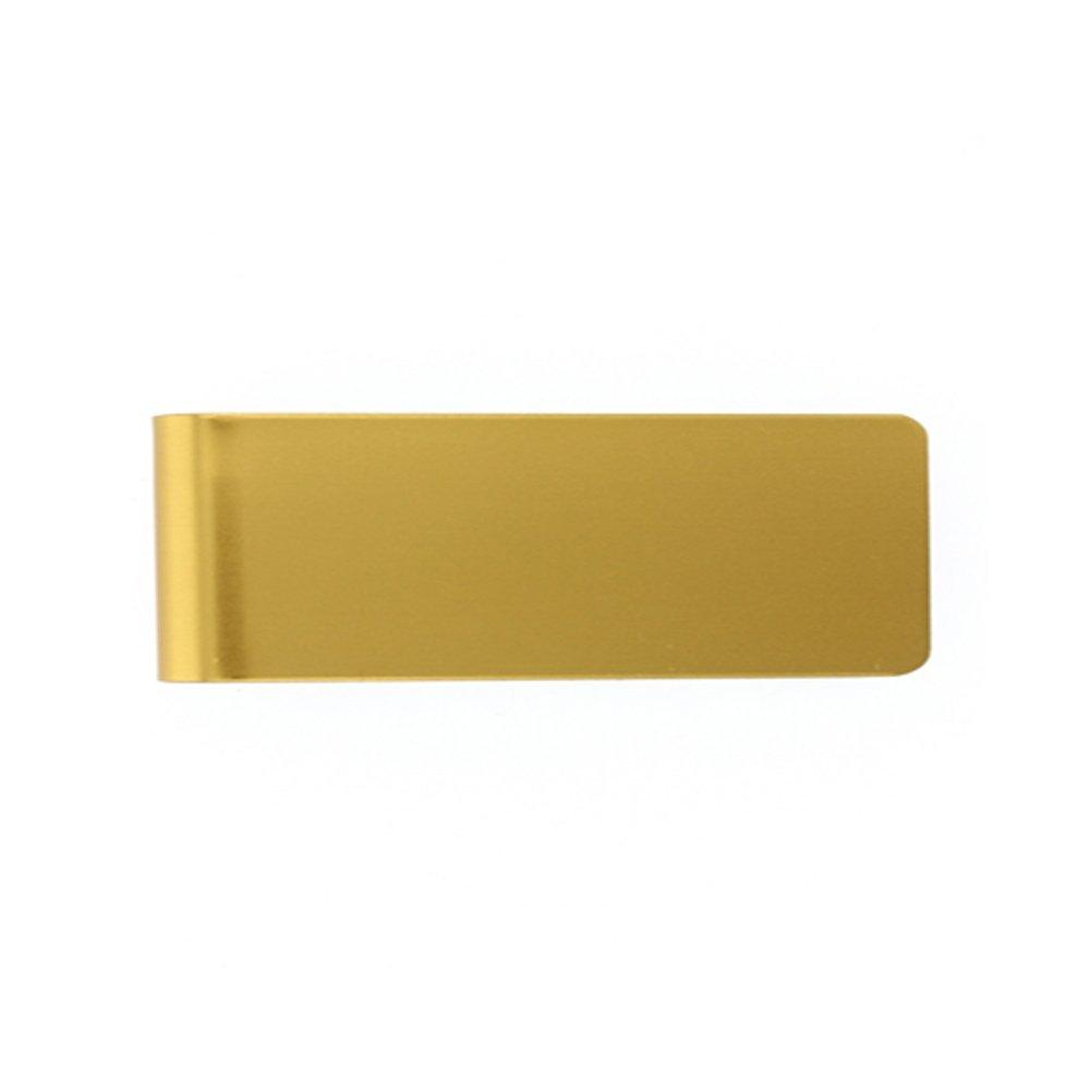 Gold Free Engraving Money Clip DiamondJewelryNY Grand Band Aluminum Money Clip