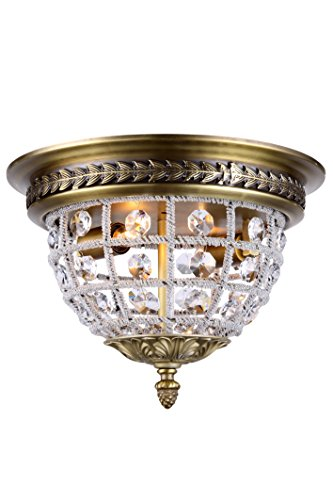 Gold Classic Flush Mount (1205 Olivia Collection Flush Mount D:12In H:8.5In Lt:2 French Gold Finish Royal)