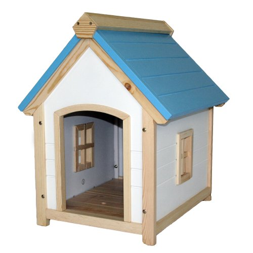 UPC 890669001070, S&H Pet Products DH2007BW Cozy Cottage Dog House, Blue/White