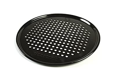 Pizzacraft 12.87' Round Porcelain-Coated Pizza Pan Crisper/Screen