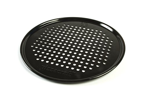 - Pizzacraft Round Nonstick Perforated Pizza Pan Crisper/Screen, 12.9in PC0301