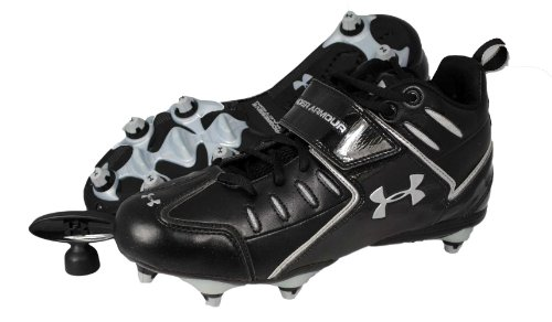 Under Armour Intensity II Mid Detachable Football Cleat Mens (8 M US, Black/Silver)