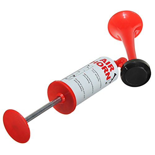 MonkeyJack Air Horn Hand Held Pump NO GAS Required Loud Blast Sporting Event Boating Safety Cheering