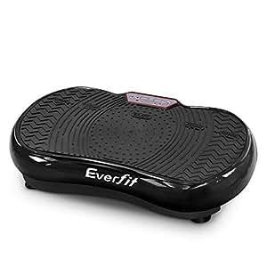 Everfit Vibration Machine Platform Plate Exercise Body Shaper Slimmer Power Fit Vibrating Fitness Black Oscillating Straps Home Gym