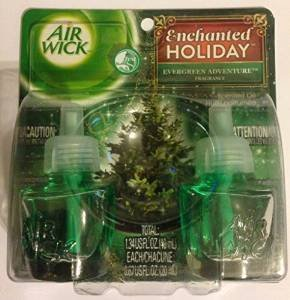 Air Wick Enchanted Holiday Scented Oil, Evergreen Adventure Fragrance, 2 Refills (Air Wick Scented Oil Refills compare prices)