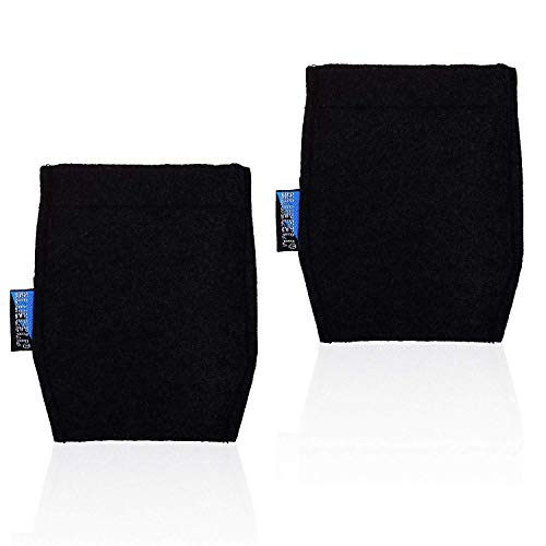 BCP 2-Piece Pocket Square Card Holder for Man's Suits (Black Color)