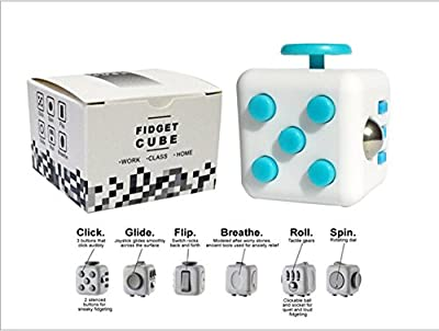 XH Anti-Anxiety Fidget Cube Attention Focus Fidget Toys Premium Quality EDC Focus Toy for Kids & Adults Best Stress Reducer Relieves ADHD Anxiety and Boredom Ceramic