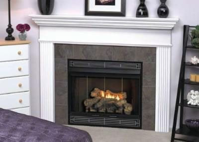 Fireplace Natural Gas B-vent - Deluxe MV 34 inch Louver B-Vent Fireplace - Natural Gas