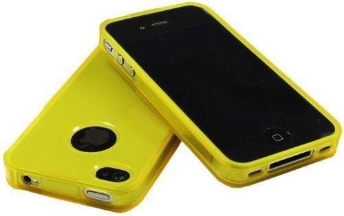 avci Base 4260310646121Bumper Coque pour Apple iPhone 4/4S Jaune
