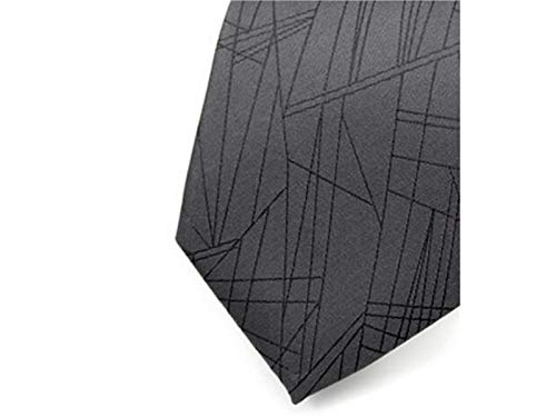 Wedding Casual Men's XDXDWEWERT Dark for Formal Style Party Necktie and Occasion Comfortable Grey Stripe qaYrag