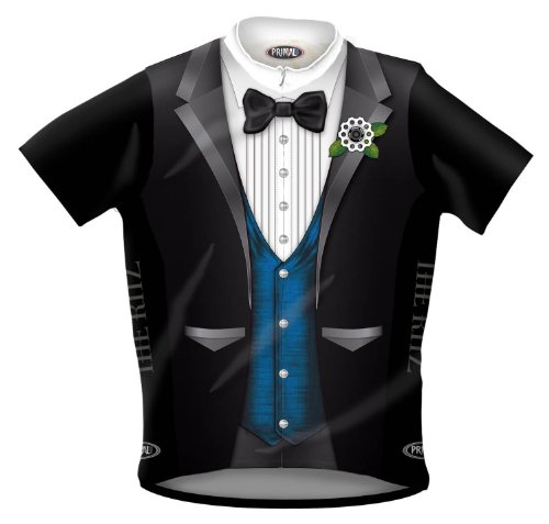 Primal Wear The Ritz Tuxedo Cycling Jersey Men's Large L (Wear Air Primal)