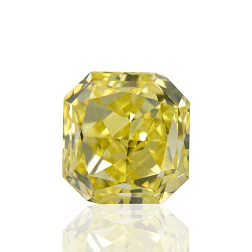 Leibish & Co 0.50Cts Fancy Intense Yellow Loose Diamond Natural Color Radiant Cut GIA Cert