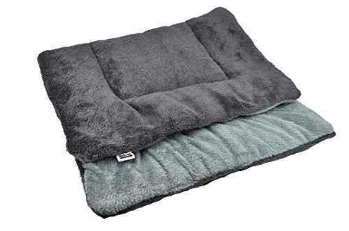 Comfort Crate - Downtown Pet Supply Comfort Pet Dog Crate Mat and Nap Pad, Large-Charcoal/Silver