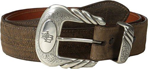(Lucchese Men's W2251H Chocolate Mad Dog Goat Belt 32)
