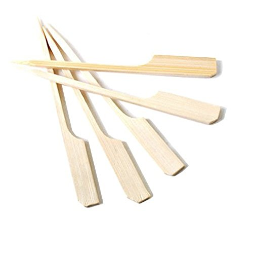 Case of 5000 Oriental Creations Premium 4 inch Natural Bamboo Paddle Picks Skewers (5000) by Oriental Creations