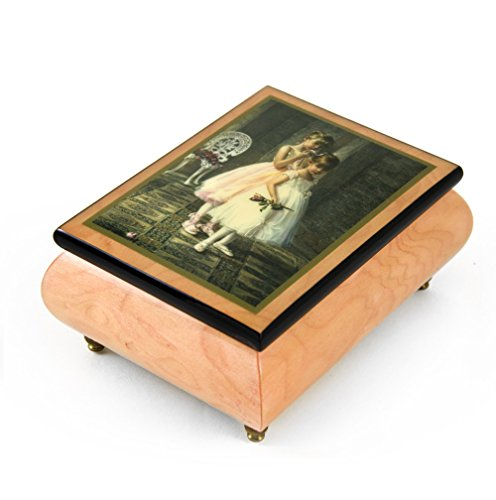 Handcrafted Ercolano Music Box Featuring Encore by Sandra Kuck - Over 400 Song Choices - I'm A Little Teapot