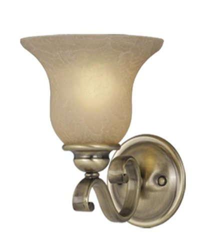 Monrovia 1 Light Wall Sconce - Finish: Antique Brass