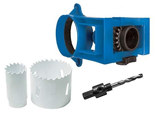 Century Drill & Tool 5910 Shark Tooth Bi-Metal Hole Saw Metal Door Lock Installation Kit, 4 Piece