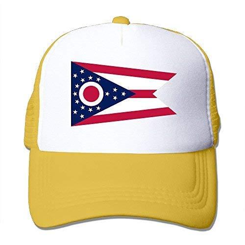(Abdul. Flag of Ohio State Mesh Trucker Caps/Hats Adjustable for Unisex Black)