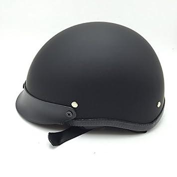 Htt motocicleta Dot Certificado negro mate negro soporte de casco de la mitad de la cara