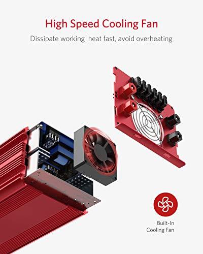 BESTEK 2000W Power Inverter 3 AC Outlets DC 12V to 110V AC Car Inverter Outdoor Emergency Power Supply ETL Listed by BESTEK (Image #4)