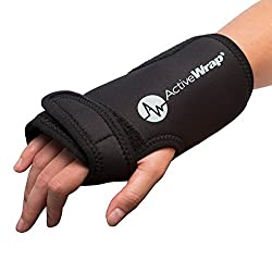 Hand and Wrist Heat/Cold Therapy Wrap - Reduces Wrist Pain and Swelling. Ideal For Both Left and Right Hand Use. Allows Mobility While Icing and Heating Compression Is Applied. BAWH007 By ActiveWrap