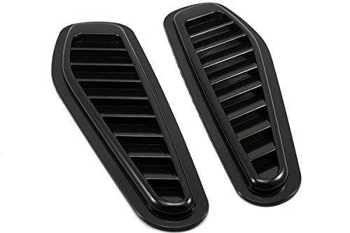 NEVERLAND 2pcs Car Decorative Air Flow Intake Scoop Turbo Bonnet Vent Cover Hood Good Scoop Car
