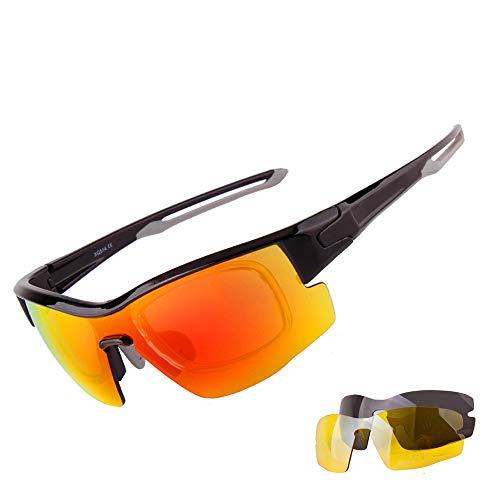 Polarizadas De Deportivas Hombre Intercambiables 3 UV para A Aili 400 Lentes Set Mujer Deportivas C con Gafas Protección SCqSvH5Yw
