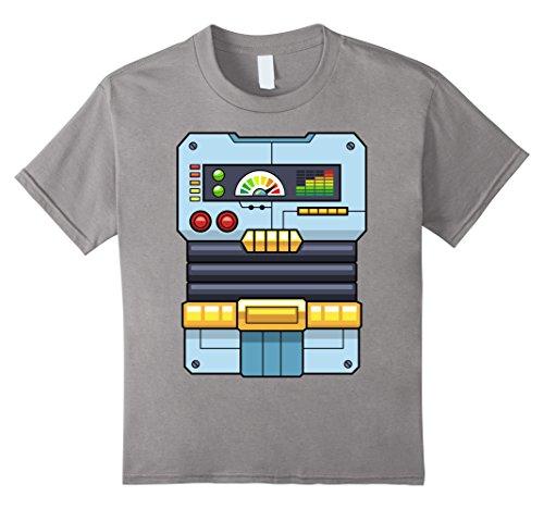 Kids Robot Costume T-Shirt   Halloween Robot Control Pane...