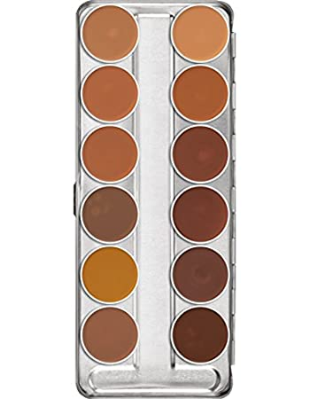 Amazon.com : Kryolan Dermacolor Camouflage Creme 12 Colors Makeup Palette # 75004 Caribbean : Beauty