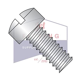 1//4-20 X 1 1//8 Slotted Fillister Machine Screw 18-8 Stainless Steel Package Qty 100
