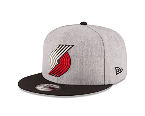 competitive price 3fe6b 22f79 New Era NBA Portland Trail Blazers Adult Men NBA 9Fifty 2Tone Heather  Snapback C..